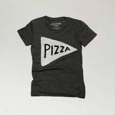 Women's Pizza T shirt , Black / text, typography tee, typography tshirt, pizza clothing, pizza party t shirt, gifts under 25, ladies t-shirt featuring polyvore, women's fashion, clothing, tops, t-shirts, night out shirts, tee-shirt, going out shirts, long tops and party tops