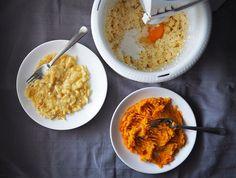 Prăjitură cu mălai și fructe de pădure (fără zahăr)- din rețetarul bunicii Baby Food Recipes, Risotto, Grains, Low Carb, Gluten, Ethnic Recipes, Sweets, Banana, Recipes For Baby Food