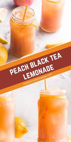 This simple, refreshing Peach Black Tea Lemonade has the perfect blend of flavors and just a touch of sweetness! Perfect for hot summer days! | The Bitter Side of Sweet Baked Apple Fritters, Mango Banana Smoothie, Make Simple Syrup, Peach Lemonade, Serving Size, Bitter, Drinking Tea, Summer Days, Sweet Recipes