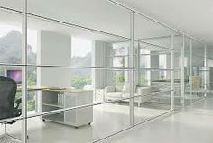 interior glass walls office - Google Search