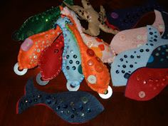 """""""Making Montessori Ours"""": Fishing Game & sewing project for kids !!!"""