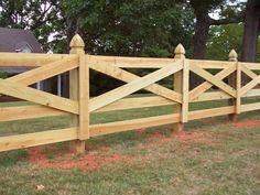 забор ранчо с досками в виде перекрестий