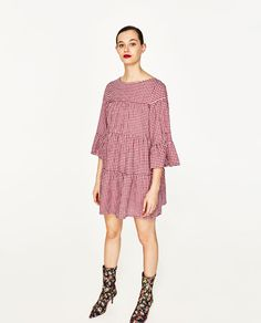 Zara Gingham Mini Dress Mini Dresses Summer 2017 most famous branded clothes available man's and women online shopping worldwide shipping. Zara Dresses, Sexy Dresses, Summer Dresses, Mini Dresses, Summer Fashion Trends, Spring Summer Fashion, Girly Outfits, Fashion Outfits, Zara Mode