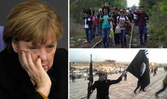 Rising tensions over EU migrant influx exposed as TWO THIRDS of Germans expect ISIS attack  RISING tensions over the migrant crisis sweeping Europe were laid bare today after TWO THIRDS of Germans said they expect Islamic State (ISIS) jihadis to attack their country in 2016.  Angela Merkel, left, and refugees arrive in Germany, right