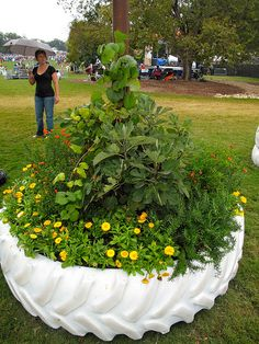 planter...this would work in my yard bc my husband is a trucker and there is always. Trucks here.