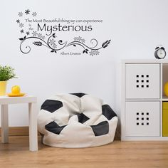 Mysterious Wall Decal Art Home Decor Quotes and Sayings ( 16in x 8in)