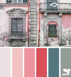 pretty greys and pinks