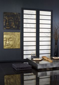 Black and Gold Budha! #bathroom