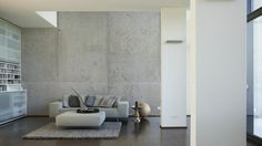 Architects Paper Fototapete Beton 1 470126; simuliert auf der Wand