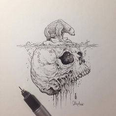 Drawing more skulls lately. Follow my stuff on Facebook (fb.com/sketchystoriesblog) and Instagram (instagram.com/kerbyrosanes)