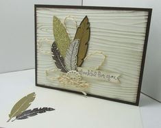 Feather trends in card-making