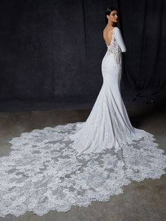 Shop our chic Enzoani Couture Wedding Dress and Bridal Gown Collection at Bridal Reflections. Contact us to schedule your private bridal appointment. Mermaid Gown, Mermaid Dresses, Elegant Wedding Dress, Dream Wedding Dresses, Weeding Dresses, Olive Wedding, Bridal Reflections, Wedding Dress Pictures, Designer Wedding Gowns