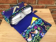 Birds diaper bag new and larger diaper clutch ultra violet