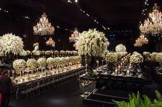 Casamento de luxo - Betina e Gustavo - Decoração branca e verde