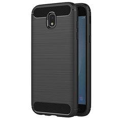 nice Funda Samsung Galaxy J5 2017, AICEK Negro Silicona Fundas para Samsung J5 2017 Carcasa Galaxy J5 2017 J530 Fibra de Carbono Funda Case