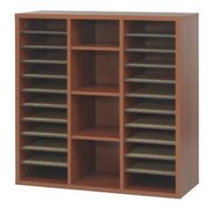 a safco products 9441cy apres modular storage literature organizer cherry home