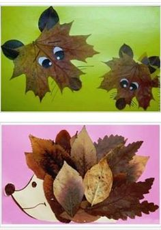 Collages of dried leaves creative ideas for the .- Collagen aus getrockneten Blättern kreative Ideen zum Selbermachen Collages of dried leaves creative ideas to make your own -