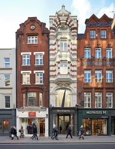 The narrow facade of Bonhams Auction House, 101 New Bond Street, London