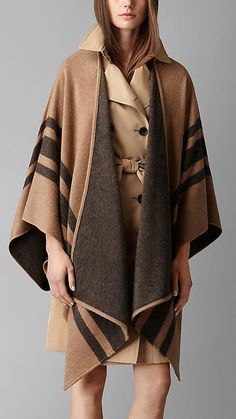 The Burberry poncho inspired our roundup of the best blanket scarves!