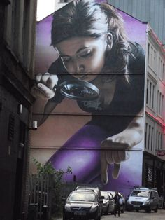 Street art illusion by Smug (Glasgow, Scotland) Home of the XX Commonwealth Games in 2014. #glasgow2014 @Sherry Flora 2014 #glasgow #scotland www.glasgow2014.com