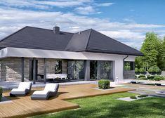 Modern Family House, Modern House Plans, Beautiful House Plans, Dream House Plans, 20 M2, House Elevation, Exterior, Facade House, Types Of Houses