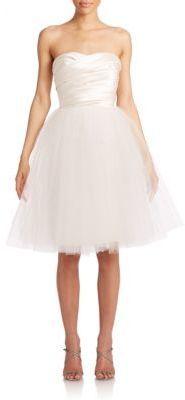 ML Monique Lhuillier Strapless Ballerina Dress