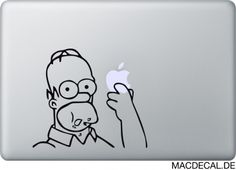 Unser Freund aus Springfield, Homer Simpson sollte auf keinem Macbook fehlen! Jetzt zuschlagen!  http://www.macdecal.de/hollywood-macbook-sticker/macbook-sticker-homer-simpson-eating.html