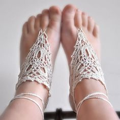 Pretty barefoot sandals.