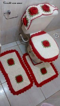 Banheiros minions 5 disney rg pinterest crochet crochet crochet white and red granny bathroom set lcb mrs with diagram croch com amor pap jogo de banheiro 4 peas ccuart Choice Image