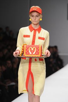 Jeremy Scott & Moschino's McDonald's Inspired Look at Milan Fashion Week AW14...!