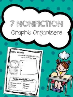 Newly Updated Freebie!!! These graphic organizers are a great addition to your informational text unit. Reading response sheets help your students digest the information they are reading. This mini set includes the following topics*summarizing*opinions*biographies*vocabulary *nonfiction text features*questioning*predictions*recalling information
