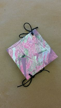 Book Cover Incorporates Paste Paper, Leaf Prints, and Marbling