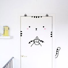 Eco-friendly stickers that transform your door into a cute animal <3