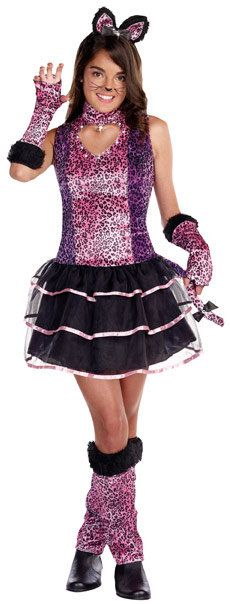 cheer costumes for teens | ... Animal Costumes >> Cat Costumes >> Teen Super Star Purrty Cat Costume