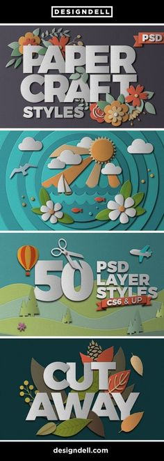 Papercraft Cut Out Photoshop Effects
