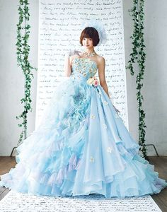 The FashionBrides is the largest online directory dedicated to bridal designers and wedding gowns. Pretty Dresses, Blue Dresses, Formal Dresses, Bridal Collection, Dress Collection, Bridal Gowns, Wedding Gowns, Fairytale Dress, Beautiful Gowns
