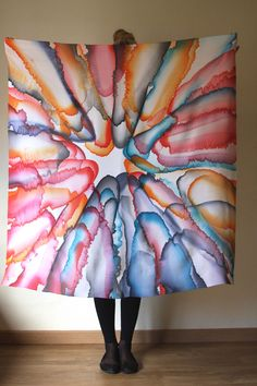 Wow, amazing simplicity and yet depth! Hand-painted scarf by Asta Masiulyte www.astasilk.com