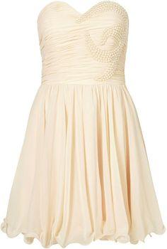 Topshop Embellished Bandeau Dress By Opulence in Orange (cream)