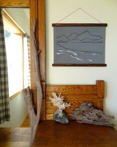 Nautical Home Decor  Gray Screen Print  by HomesteadingRoasters, $39.95