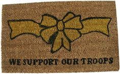 Geo Crafts G149 PVC Backed Coco Door Mat, Support our Troops by Geo Crafts Inc.. $20.71. Coir mats are exceptionally functional and virtually irreplaceable when it comes to economy, durability and beauty. Rug measures 18-inch by 30-inch. PVC backing helps reduce shedding of coir bristles. Show your support with this printed coir door mat. To prolong life of design you should use in covered area. Founded at the turn of the century in India, our roots go back to Ind...