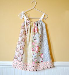 Sweet Pillowcase Style Dress using fat quarters - free step by step tutorial