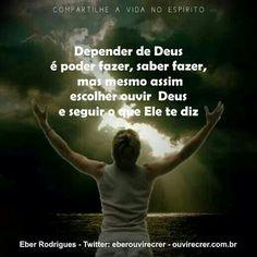 dependência de Deus!