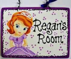 5x7 Personalized Sofia The First Princess Room Sign Disney Sophia Plaque W | eBay