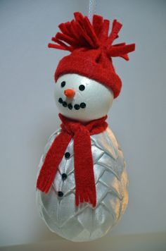 Quilted ornament - snowman