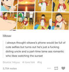 Oikawa, the doting uncle.