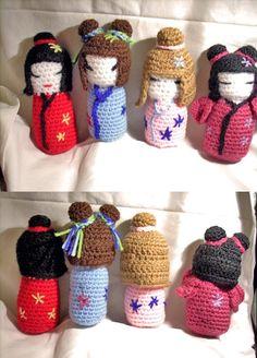 Kokeshi   amigurumi  handmade