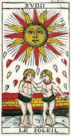 Tarot of Marseilles Heritage - Pierre Madenié, Dijon 1709 Tarot Card Decks, Tarot Cards, Rose Croix, Witch Powers, Tarot Major Arcana, Occult Art, Spiritus, Gemini Zodiac, Tarot Spreads