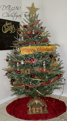 DIY180/ Real Christmas Tree/ Christmas ornaments/ decor