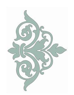 Free printable damask stencil