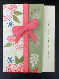 Stampin up swirly bird birthdays